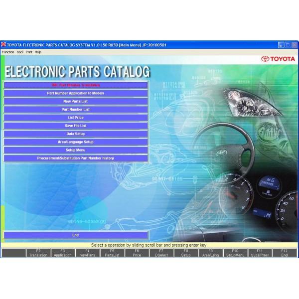 โปรแกรมรวม EPC TOYOTA /LEXUS PART CATALOG ตั้งแต่ปี 1980-2010