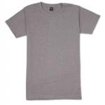เสื้อยืดคอกลมเรียบ Po07 สีเทาม่วงฟอก