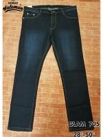 GLAM 705 กางเกงยีนส์ขายาว ขายกางเกง กางเกงคนอ้วน เสื้อผ้าคนอ้วน กางเกงขายาว กางเกงเอวใหญ่