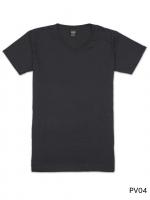 เสื้อยืดคอวีเรียบ Pv04 สีดำ