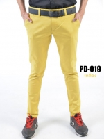 กางเกงขายาว รุ่น PD-019 (สีเหลือง)