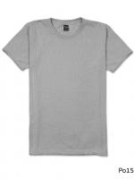 เสื้อยืดคอกลมเรียบ Po15 สีเทาเงิน