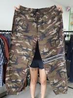 กางเกง jogger JG T641 N ทหารแถบ