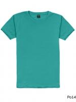 เสื้อยืดคอกลมเรียบ Po14 สีเขียวมรกต