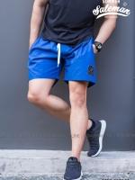 กางเกงขาสั้น พรีเมี่ยม ผ้า COTTON รหัส SS 206 สีน้ำเงิน