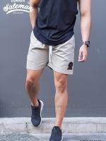 กางเกงขาสั้น พรีเมี่ยม ผ้า COTTON รหัส SS 209 สีเทาอ่อน