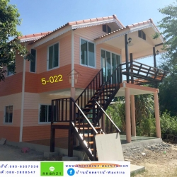 5-022 บ้านน็อคดาวน์หลังใหญ่ - ทรงจั่วมุกซ้อน