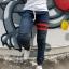 STRETCH JEANS JOGGER PANTS | ขาจั๊มยีนส์ยืด YM612 R thumbnail 2