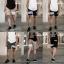 กางเกงขาสั้น พรีเมี่ยม ผ้า COTTON รหัส SST 201 W สีครีม แถบ ขาว SUMMER SALE thumbnail 3