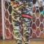 กางเกง Jogger ขาจั๊ม พรีเมี่ยม ผ้า วอร์ม รหัส WT 679 BR สีทหาร แถบ ดำ แดง thumbnail 3