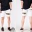กางเกงขาสั้น พรีเมี่ยม ผ้า COTTON รหัส SST 222 G สีขาว แถบทอง thumbnail 7