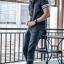 BIG เสื้อเชิตยีนส์ SALEMAN®Original เสื้อเชิตคุณภาพ สีเทาดำ SSY110 thumbnail 2
