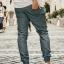 กางเกง JOGGER พรีเมี่ยม ผ้า COTTON รหัส SS616 เทาควัน thumbnail 2