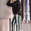 กางเกง ขายาว พรีเมี่ยม ผ้า วอม รหัส W 625 TAX w เขียวแถบขาว thumbnail 1