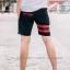 กางเกงขาสั้น พรีเมี่ยม ผ้า COTTON รหัส SST 215 R สีดำ แถบ แดง thumbnail 2