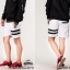กางเกงขาสั้น พรีเมี่ยม ผ้า COTTON รหัส SST 222 TAX JAP B สีขาว แถบดำ thumbnail 1