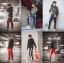 กางเกง ขายาว พรีเมี่ยม ผ้า วอม รหัส W 617 TAX W แดงแถบขาว thumbnail 2