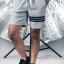 กางเกงขาสั้น พรีเมี่ยม รหัส WT 209 PRO Three Bars สีเทาอ่อน thumbnail 1