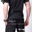 กางเกงขาสั้น พรีเมี่ยม ผ้า COTTON รหัส SST 215 G สีดำ แถบทอง thumbnail 4