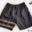 กางเกงขาสั้น พรีเมี่ยม ผ้า COTTON รหัส SST 215 G สีดำ แถบทอง thumbnail 6