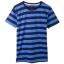 เสื้อยืดคอกลมลายทาง S114 (สีดำสลับน้ำเงิน) thumbnail 1