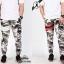 กางเกง jogger ขาจั๊ม ผ้าวอร์ม WT 678 WW ลายทหาร แถบขาว SUMMER SALE thumbnail 4