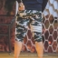 กางเกง Jogger ขาจั๊มสามส่วน พรีเมี่ยม ผ้า วอร์ม รหัส WT 379 WW สีทหาร แถบ ขาว thumbnail 2