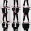 กางเกง JOGGER พรีเมี่ยม ผ้า COTTON 100% รหัส SST 615 Taxฺ B สีดำ แถบแท็กดำ thumbnail 5