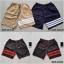 กางเกงขาสั้น พรีเมี่ยม ผ้าวอร์ม รหัส WT 277 R สีทหาร แถบ แดง thumbnail 3