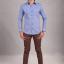 เสื้อเชิ้ตผู้ชายลายตารางสีน้ำเงิน SP-004 thumbnail 2