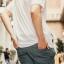 กางเกง JOGGER พรีเมี่ยม ผ้า COTTON รหัส SS616 เทาควัน thumbnail 3