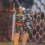 กางเกง Jogger ขาจั๊มสามส่วน พรีเมี่ยม ผ้า วอร์ม รหัส WT 379 BR สีทหาร แถบ ดำ แดง thumbnail 4
