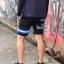 กางเกงขาสั้น พรีเมี่ยม ผ้า วอร์ม รหัส WT215 ฺBlue สีดำ แถบ ฟ้า thumbnail 2