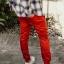 กางเกง JOGGER พรีเมี่ยม ผ้า COTTON รหัส SS 617 แดงสด thumbnail 2
