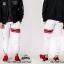 กางเกง JOGGER พรีเมี่ยม ผ้า COTTON รหัส SST 622 TAX JAP Red สีขาว แถบแดง thumbnail 6