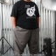 กางเกง JOGGER พรีเมี่ยม ริมแดง สีเทาควันบุหรี่ BIG 616 thumbnail 10
