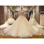 ชุดแต่งงาน ไหล่ปาด สีขาว