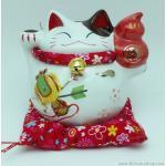 แมวอ้วน แมวกวัก แมวนำโชค สูง 5 นิ้ว ถือน้ำเต้า [6.8-10681]