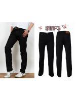 กางเกงยีนส์ขากระบอกผู้ชาย สีดำซุปเปอร์แบล็ก มี SIZE 28 30 32 34 36