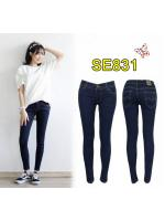กางเกงยีนส์แฟชั่นเอวต่ำขาเดฟ ซิปหน้า ยีนส์ยืดคุณภาพดี สีกรมฟอก มี SIZE XL