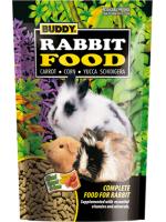 อาหารหนูแกสบี้และกระต่าย ทุกสายพันธุ์ ยี่ห้อ Buddy ขนาด 600 กรัม