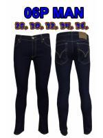 กางเกงยีนส์ขาเดฟผู้ชาย ซิป ยีนส์ยืด สีกรม มี SIZE 28,30,32,34,36