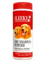 ดรายแชมพู SLEEKY แป้งทำความสะอาดสำหรับสุนัขและลูกสุนัข กระปุกใหญ่ 250 กรัม