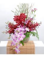 แจกันดอกไม้ Red Oriental A รหัส 3012