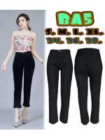 กางเกงยีนส์ทรงบอย สีดำ ผ้าไม่ยืด ผ้านิ่ม ใส่สวย มี SIZE S M L XL