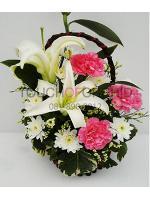 กระเช้าดอกไม้ลิลลี่