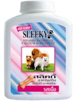SLEEKY - สลิคกี้ วิตามินรวมและแคลเซียมสุนัข บำรุงร่างกายสุนัข รสเนื้อ สำหรับหมาทุกพันธุ์ - ขวดกลาง 350 กรัม