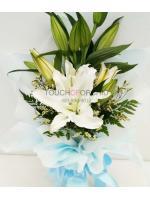 ช่อดอกไม้ลิลลี่ขาวเล็ก