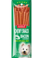 ขนมสุนัข SLEEKY ชิววี่สแน็ค รสเบคอน (ชนิดแท่ง - สำหรับหมาเล็ก)