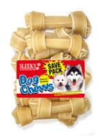 ขนมขัดฟันสุนัข SLEEKY หนังวัวขัดฟันหมารูปกระดูกผูก ขนาด 4 นิ้ว - แพ็คใหญ่